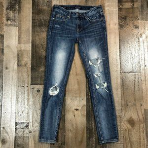 "Vigoss ""The Jagger"" Super Skinny Destructed Jeans"